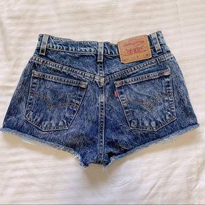 Vintage Levi's 517 Acid Washed Jean Short